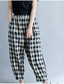 ieftine Fuste de Damă-Pentru femei Activ Bootcut Pantaloni Mată / Houndstooth Negru & Roșu