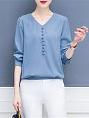 ieftine Bluză-Pentru femei În V Cămașă Mată