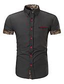 ieftine Maieu & Tricouri Bărbați-Bărbați Cămașă De Bază / Chinoiserie - Bloc Culoare