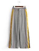 ieftine Fuste de Damă-Pentru femei Activ Larg Pantaloni Chinos Pantaloni Dungi / Bloc Culoare