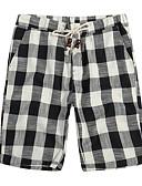 ieftine Tricou Bărbați-Bărbați De Bază Bumbac Pantaloni Scurți Pantaloni Carouri