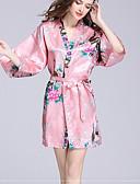 preiswerte Pyjamas-Gehobene Qualität Bademantel, Blumen / Tier 100% Polyester Bad 1 pcs