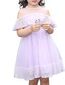 povoljno Kompletići za djevojčice-Dijete koje je tek prohodalo Djevojčice Aktivan / slatko Jednobojni Čipka / Mrežica Kratkih rukava Midi Haljina