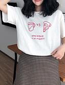 ieftine Tricou-Pentru femei Stil Nautic Tricou Concediu Bumbac De Bază - Geometric / Scrisă Imprimeu / Vară / Larg