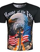 billige T-skjorter og singleter til herrer-Rund hals Store størrelser T-skjorte Herre - Dyr, Trykt mønster overdrevet / Vennligst velg én størrelse over din normale størrelse.