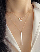 cheap Women's Dresses-Women's Layered Tassel Thick Chain Chain Necklace / Layered Necklace - Vintage, Multi Layer Gold, Silver 48 cm Necklace Jewelry For Gift, Daily