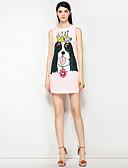 זול שמלות נשים-מעל הברך חרוזים, פרחוני - שמלה גזרת A חמוד סגנון רחוב בגדי ריקוד נשים