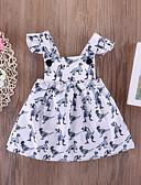 お買い得  女児 ドレス-赤ちゃん 女の子 活発的 フラワー ノースリーブ コットン / スパンデックス ドレス ホワイト / 幼児
