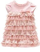 povoljno Kompletići za bebe-Dijete Djevojčice Osnovni Jednobojni Kratkih rukava Pamuk Haljina / Dijete koje je tek prohodalo