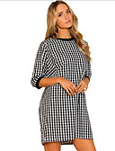 ieftine Lenjerie la Modă-Pentru femei Ieșire Zvelt Linie A Rochie Bloc Culoare Talie Joasă Mini / Vară