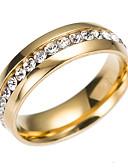 povoljno Majica s rukavima-Kubični Zirconia Band Ring Prsten za vječnost - nehrđajući Klasik, Moda 6 / 7 / 8 / 9 Zlato / Pink Za Angažman Dar Dnevno