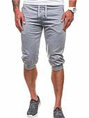 baratos Camisas Masculinas-Homens Básico Shorts Calças - Sólido
