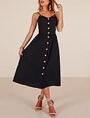 povoljno Ženske haljine-Žene Osnovni Korice Haljina - Otvorena leđa / Print, Geometrijski oblici / Color block Midi