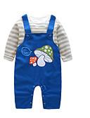 tanie Baby Boys' One-Piece-Dziecko Dla chłopców Aktywny Codzienny Nadruk Długi rękaw Regularny Bawełna Komplet odzieży Niebieski / Brzdąc