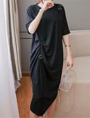 tanie Sukienki-Damskie T-shirt Sukienka - Solidne kolory Midi