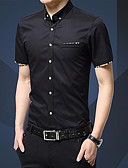 זול חולצות פולו לגברים-אחיד עבודה חולצה - בגדי ריקוד גברים / שרוולים קצרים