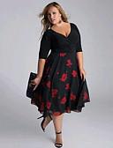 זול שמלות במידות גדולות-V עמוק מידי שמלה נדן רזה ליציאה בגדי ריקוד נשים