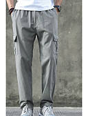ieftine Tricou Bărbați-Bărbați Bumbac Zvelt Pantaloni Chinos Pantaloni Mată