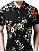 זול חולצות לגברים-פרחוני חולצה - בגדי ריקוד גברים דפוס