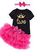 povoljno Kompletići za bebe-Dijete Djevojčice Jednobojni / Print Kratkih rukava Komplet odjeće