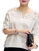 tanie Bluzka-damska koszula - jednolity okrągły dekolt