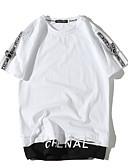 ieftine Maieu & Tricouri Bărbați-Bărbați Rotund Tricou Bloc Culoare / Manșon scurt