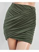 tanie Damska spódnica-Damskie Bawełna Bodycon Spódnice - Klubowa Jendolity kolor