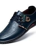 tanie Stylowe damskie płaszcze na zimę-Męskie Komfortowe buty Skóra patentowa Lato Oksfordki Czarny / brązowy / Niebieski / Impreza / bankiet