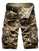tanie Męskie spodnie i szorty-Męskie Wojskowy Krótkie spodnie Spodnie kamuflaż