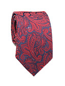 זול עניבות ועניבות פרפר לגברים-עניבת צווארון - פרחוני / קולור בלוק / פייסלי כותנה / פוליאסטר עבודה / בסיסי בגדי ריקוד גברים / כל העונות