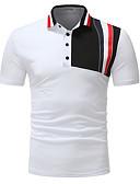 billige T-shirts og undertrøjer til herrer-Krave Herre - Farveblok Basale T-shirt Hvid XL / Uden ærmer