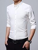 ieftine Tricou Bărbați-cămașă de lucru pentru bărbați - guler de cămașă solid colorat