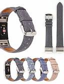 זול להקות Smartwatch-צפו בנד ל Fitbit Charge 3 פיטביט לולאה מעור מתכת אל חלד / עור אמיתי רצועת יד לספורט