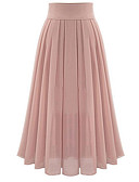 זול חולצות לנשים-אחיד - חצאיות נדנדה בסיסי בגדי ריקוד נשים