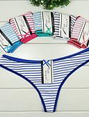 abordables Panties-Mujer Tanga A Rayas Baja cintura