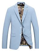 billige Herreskjorter-Blazer-Ensfarget Grunnleggende Herre