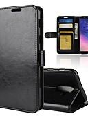 olcso Női sálak-Case Kompatibilitás Samsung Galaxy A8 2018 / A6 (2018) Pénztárca / Kártyatartó / Flip Héjtok Egyszínű Kemény PU bőr mert A6 (2018) / A6+ (2018) / A8 2018