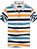 cheap Women's Dresses-Men's Basic Polo - Striped / Color Block Print