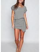 hesapli Külotlar-Kadın's Kombinezon Elbise Diz üstü