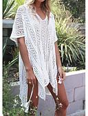 Χαμηλού Κόστους Φορέματα Παρανύμφων-Γυναικεία T-shirt Παραλία Βαμβάκι Μονόχρωμο Λαιμόκοψη V