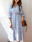povoljno Ženske haljine-Žene Šifon Haljina - S izrezom, Cvjetni print Midi