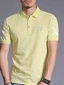 tanie T-shirt-T-shirt Męskie Vintage, Frędzel Bawełna Solidne kolory Bufka Czarno-biały