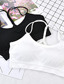 cheap Bras-Women's Backless Sports Bras Full Coverage Bras Solid Colored Sexy Daily White Black