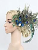 olcso Lány ruhák-Nagy Gatsby Vintage 1920-as Tomboló húszas évek Jelmez Női Flapper fejpánt Fejfedők Kék Régies (Vintage) Cosplay Pávatoll Parti Diákbál