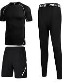 cheap Men's Underwear & Socks-Men's Set - Striped Round Neck / Short Sleeve