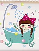 ieftine Decorarea băii-Acțibilde de Perete Rezistent la apă / Desene Animate / Adorabil Comun / Desen animat / Modern / Contemporan PVC 1 buc Decorarea băii