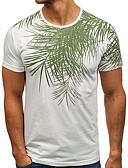 cheap Men's Pants & Shorts-Men's Basic T-shirt - Solid Colored Tropical Leaf