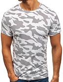 זול חולצות לגברים-להסוות צווארון עגול מידות גדולות כותנה, טישרט - בגדי ריקוד גברים / שרוולים קצרים