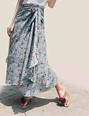 ieftine Fuste de Damă-Pentru femei Linie A Ieșire Fuste - Floral Talie Înaltă