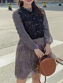 povoljno Ženske haljine-Žene Šifon Haljina Jednobojni Iznad koljena